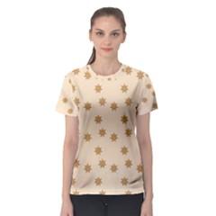 Pattern Gingerbread Star Women s Sport Mesh Tee