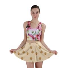 Pattern Gingerbread Star Mini Skirt