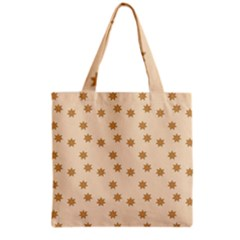 Pattern Gingerbread Star Grocery Tote Bag