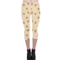 Pattern Gingerbread Star Capri Leggings