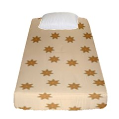 Pattern Gingerbread Star Fitted Sheet (single Size)