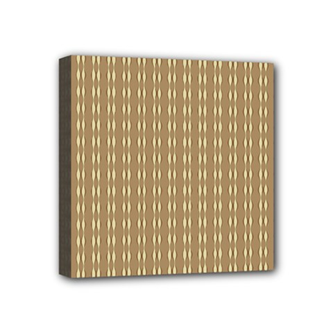 Pattern Background Brown Lines Mini Canvas 4  X 4