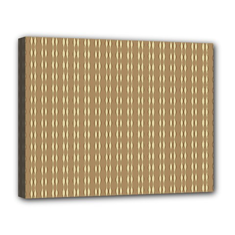 Pattern Background Brown Lines Canvas 14  X 11