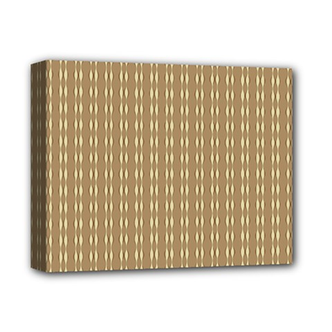 Pattern Background Brown Lines Deluxe Canvas 14  x 11