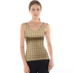 Pattern Background Brown Lines Tank Top