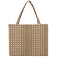 Pattern Background Brown Lines Mini Tote Bag