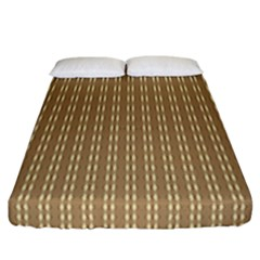 Pattern Background Brown Lines Fitted Sheet (california King Size)