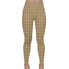 Pattern Background Brown Lines Classic Yoga Leggings