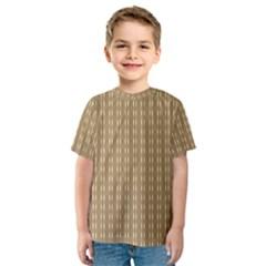 Pattern Background Brown Lines Kids  Sport Mesh Tee