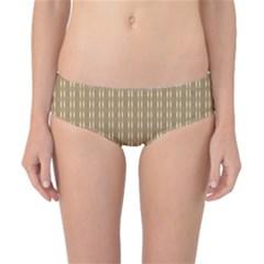 Pattern Background Brown Lines Classic Bikini Bottoms