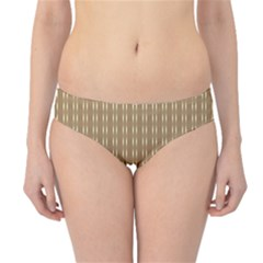 Pattern Background Brown Lines Hipster Bikini Bottoms