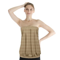 Pattern Background Brown Lines Strapless Top