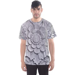 Pattern Motif Decor Men s Sport Mesh Tee