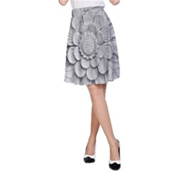 Pattern Motif Decor A-Line Skirt
