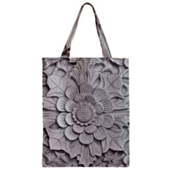 Pattern Motif Decor Zipper Classic Tote Bag