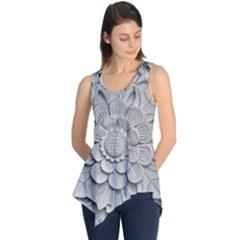 Pattern Motif Decor Sleeveless Tunic