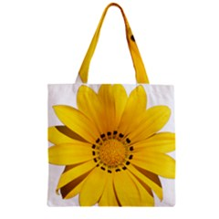Transparent Flower Summer Yellow Zipper Grocery Tote Bag