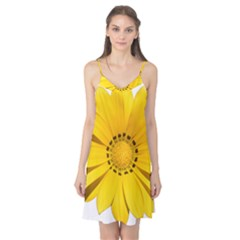 Transparent Flower Summer Yellow Camis Nightgown