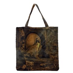 Woman Lost Model Alone Grocery Tote Bag