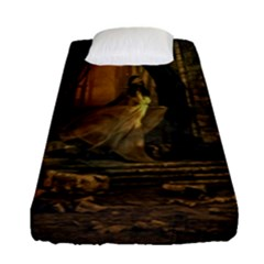 Woman Lost Model Alone Fitted Sheet (single Size)