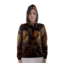 Woman Lost Model Alone Hooded Wind Breaker (Women)