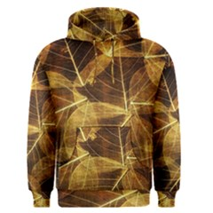 Leaves Autumn Texture Brown Men s Pullover Hoodie