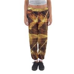 Leaves Autumn Texture Brown Women s Jogger Sweatpants