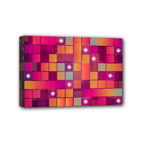 Abstract Background Colorful Mini Canvas 6  x 4