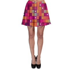 Abstract Background Colorful Skater Skirt