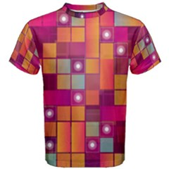 Abstract Background Colorful Men s Cotton Tee