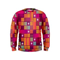 Abstract Background Colorful Kids  Sweatshirt
