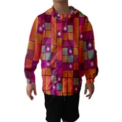 Abstract Background Colorful Hooded Wind Breaker (kids)