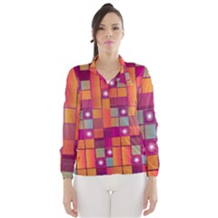 Abstract Background Colorful Wind Breaker (women)