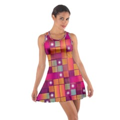 Abstract Background Colorful Cotton Racerback Dress