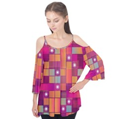 Abstract Background Colorful Flutter Tees