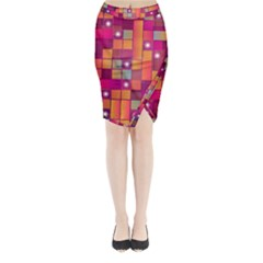 Abstract Background Colorful Midi Wrap Pencil Skirt