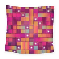 Abstract Background Colorful Square Tapestry (Large)
