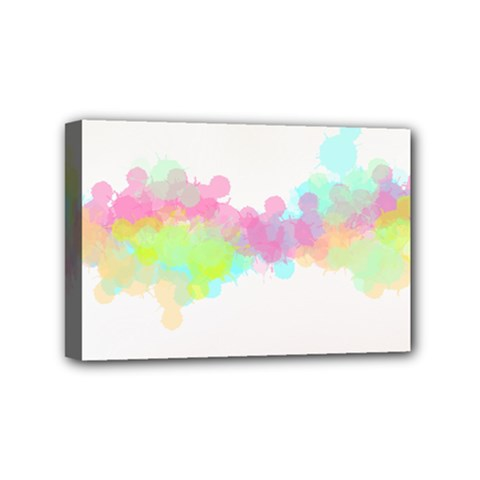 Abstract Color Pattern Colorful Mini Canvas 6  X 4