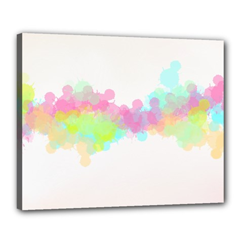 Abstract Color Pattern Colorful Canvas 20  x 16