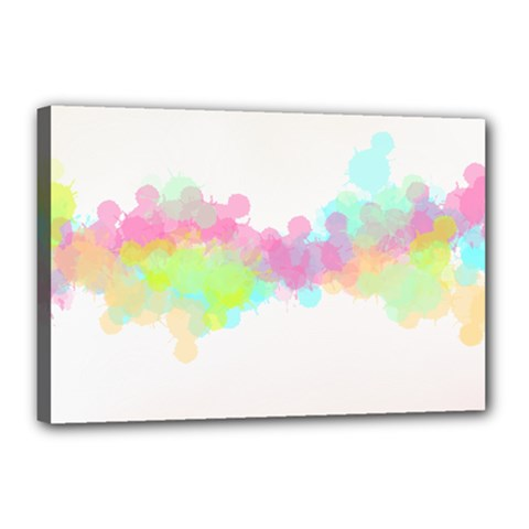 Abstract Color Pattern Colorful Canvas 18  X 12