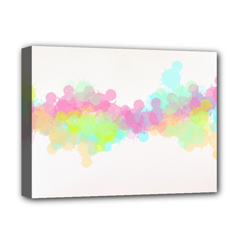 Abstract Color Pattern Colorful Deluxe Canvas 16  x 12