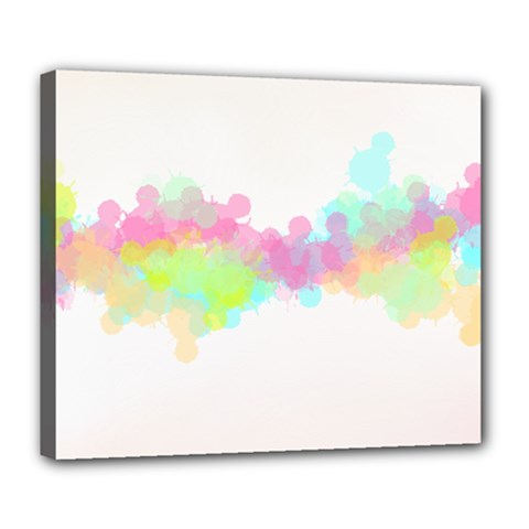 Abstract Color Pattern Colorful Deluxe Canvas 24  x 20
