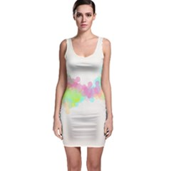 Abstract Color Pattern Colorful Sleeveless Bodycon Dress