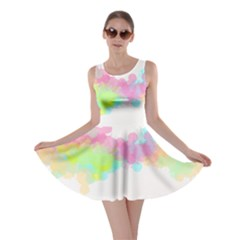 Abstract Color Pattern Colorful Skater Dress