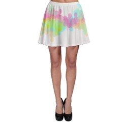 Abstract Color Pattern Colorful Skater Skirt