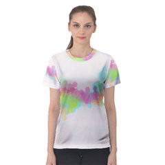 Abstract Color Pattern Colorful Women s Sport Mesh Tee