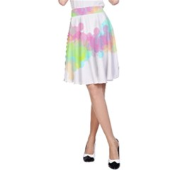 Abstract Color Pattern Colorful A-Line Skirt