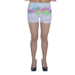 Abstract Color Pattern Colorful Skinny Shorts