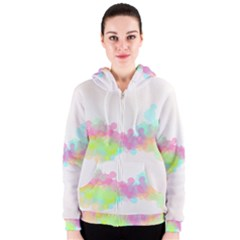 Abstract Color Pattern Colorful Women s Zipper Hoodie