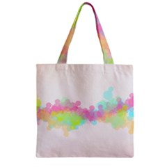 Abstract Color Pattern Colorful Zipper Grocery Tote Bag